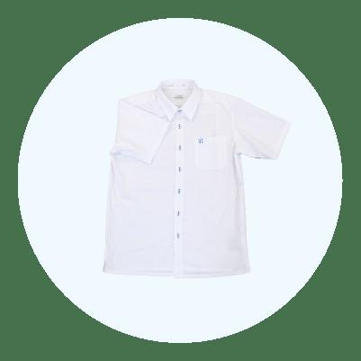 男子シャツ(半袖)・白