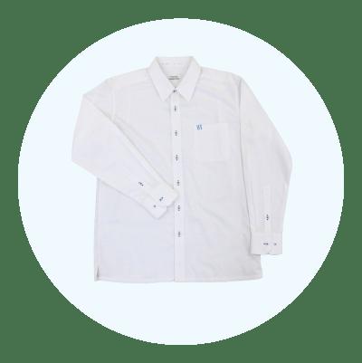 男子シャツ(長袖)・白