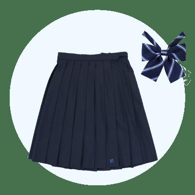 女子スカート(無地)・リボンセット